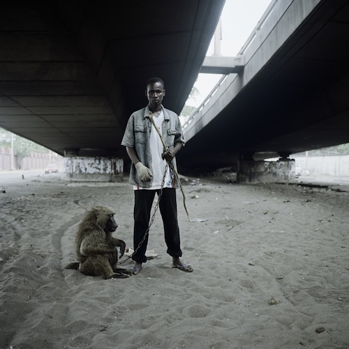 Animal handler with Ajasco, Lagos, Nigeria 2007