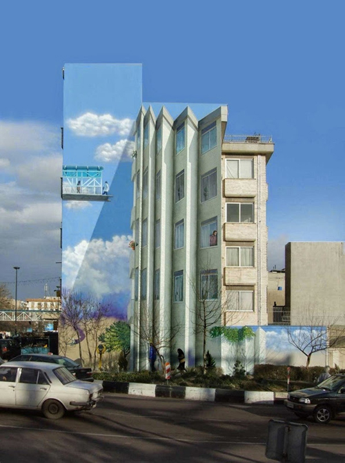 Murals in Tehran by Mehdi Ghadyanloo