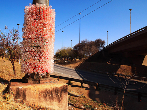 »The tower of Isaac«, medium: plastic bottles