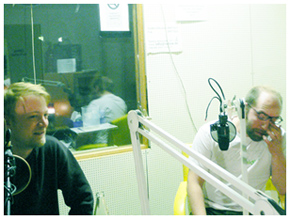 Schneider TM im Studio von Radio X