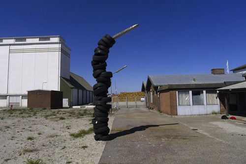 »Tire Stack«, 2011, KØS, Denmark.