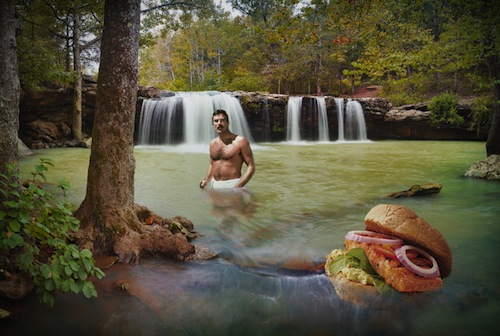Tom Selleck Photoshopped into Waterfall  ...    <span class=